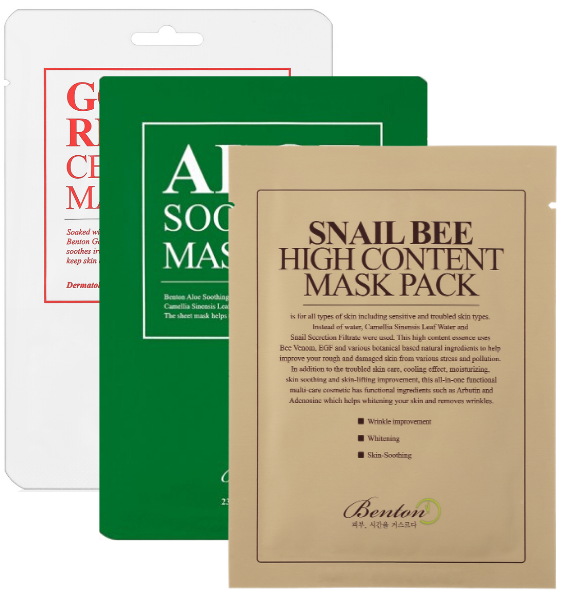 Benton Mask Pack 3 pieces